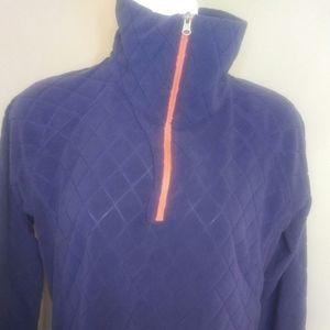 Columbis fleece purple top